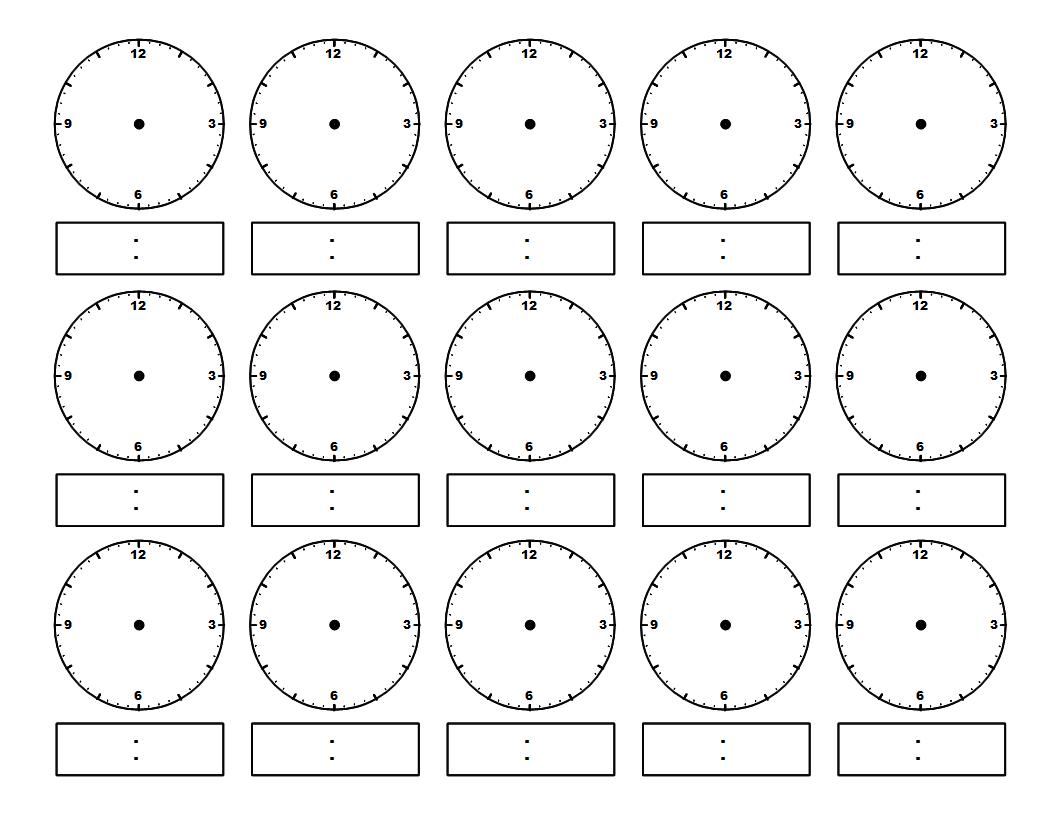задания по знакомству с часами временем