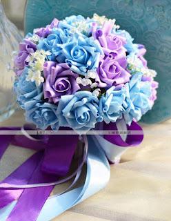 buquet azul roxo