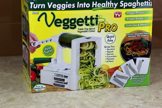 This easy garlic artichoke zucchini noodle recipe is a breeze with the Veggetti Pro!