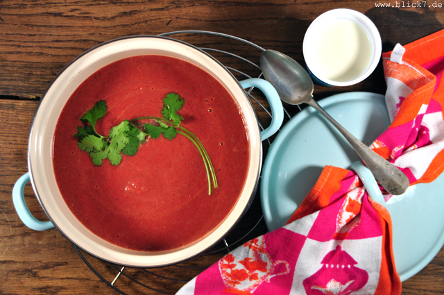 blick7 rote bete suppe mit ingwer und koriander. Black Bedroom Furniture Sets. Home Design Ideas
