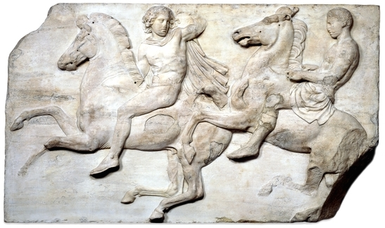 Marble Metopes from the Parthenon, Acropolis, Greece, Athens Now in The British Museum, London England