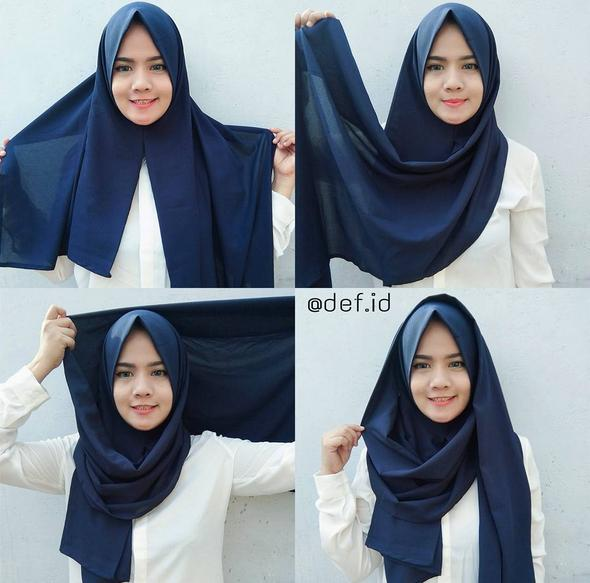 Tutorial Hijab Pashmina Syari Simple Hijabfest