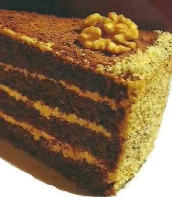 """Состав продуктов и способ приготовления торта """"Мишка"""""""