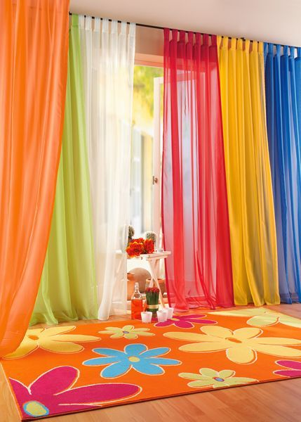 Curtain Decor Ideas For Living Room: New Home Designs Latest.: Modern Colourful Curtain Designs