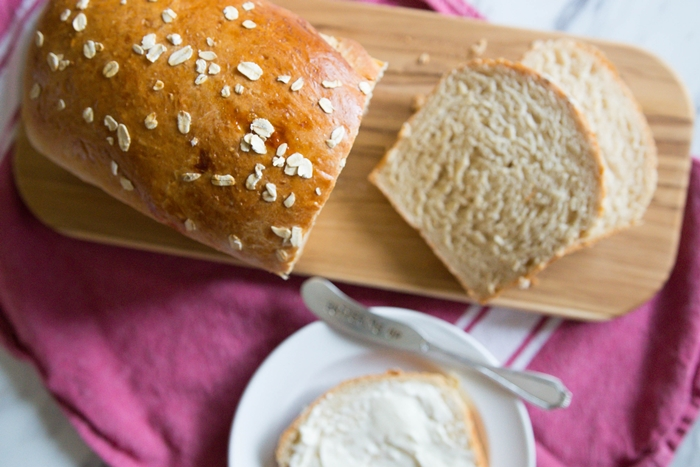 oats 101 + oatmeal sandwich bread | baket350.net for The Pioneer Woman Food & Friends