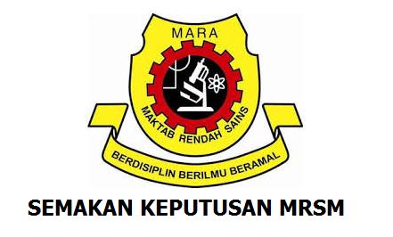 Keputusan MRSM 2017 Tingkatan 1 Online