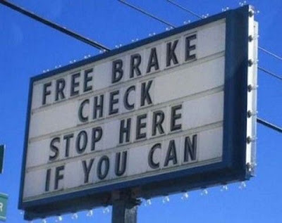 Funny Free Brake Check Sign Picture