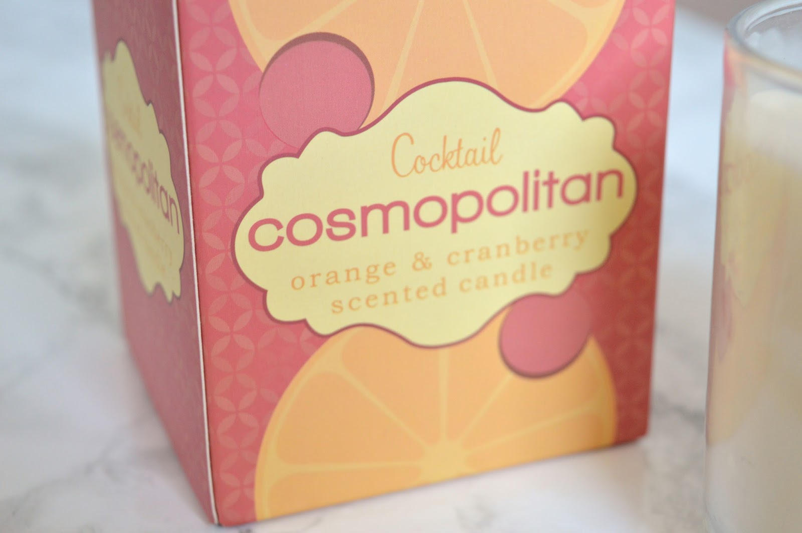 Cosmopolitan Cocktail Candle Packaging