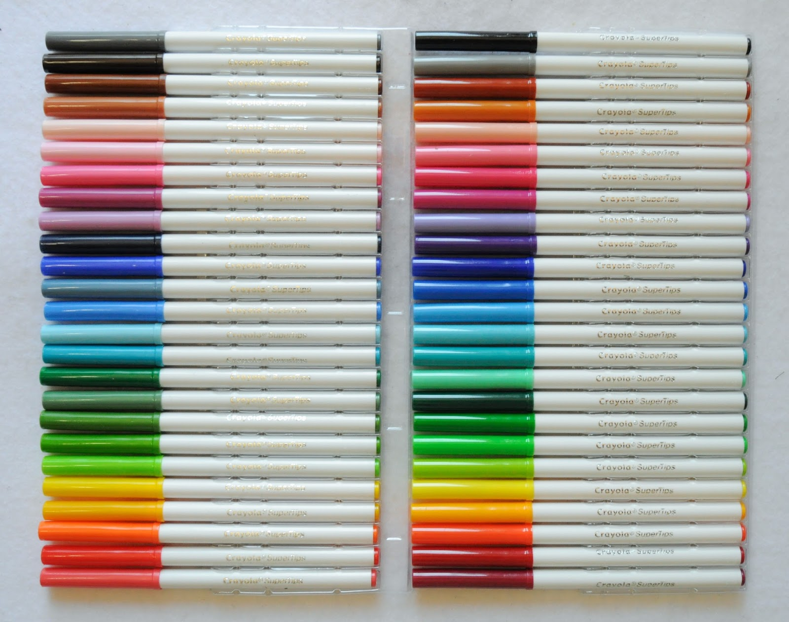 crayola super tips markers 2015 what s inside the box 20 and 50