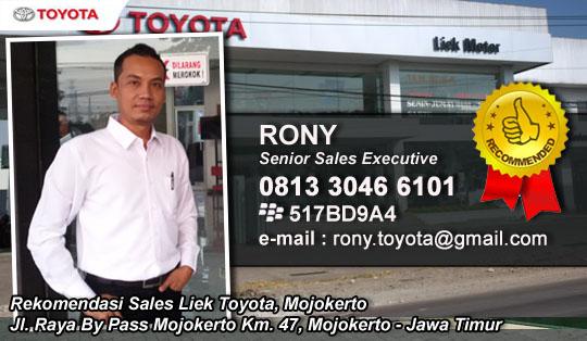 Rekomendasi Sales Liek Toyota, Mojokerto Jawa Timur