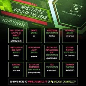 0 2014 Channel O Africa Music Video Awards Nominees Revealed
