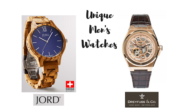 Unique men's watches by JORD Wooden Watches and Dreyfuss & Co