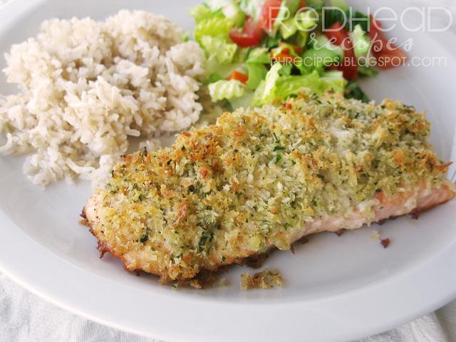 Redhead Recipes Panko Crusted Salmon