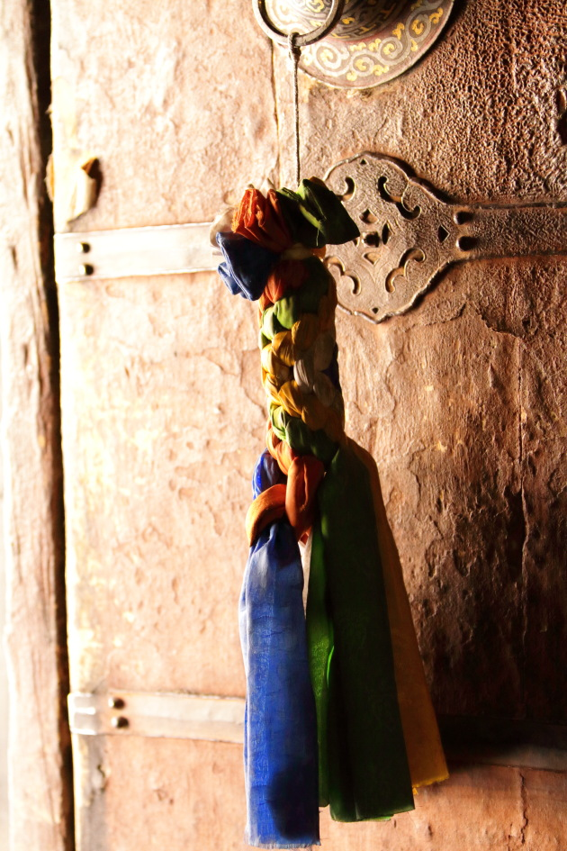 Door handle of the temple inside Chemrey Monastery, Ladakh