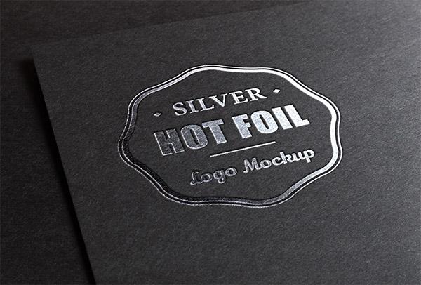 Download Logo Mockup PSD Terbaru Gratis - Silver Stamping Logo Mockup