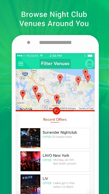 Barscan Nightlife android app view