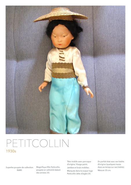 baigneur ancien, poupee ancienne, rare poupee ancienne, petitcollin ancien, vintage toys français, made in france petitcollin1930