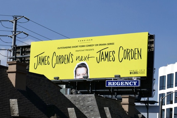 James Cordens next 2018 Emmy FYC billboard