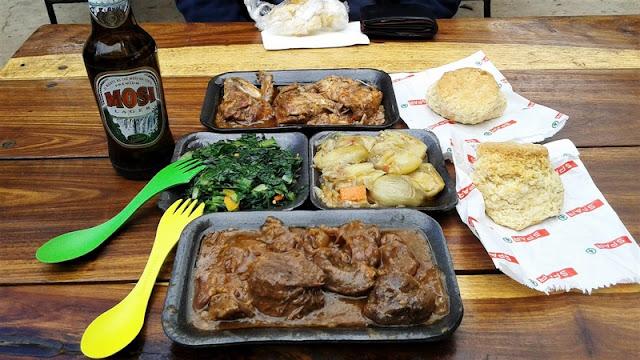 Comida de supermercado en Kasane