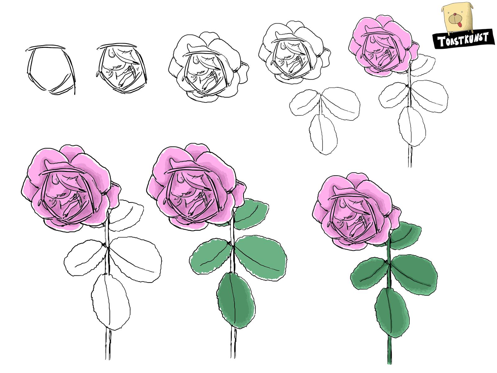 toastkunst rosa rosen toastkunst
