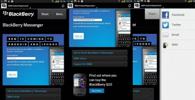 BBM Android Registration