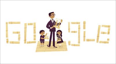 Google Dododle Merayakan Ultah Pencipta Angklung