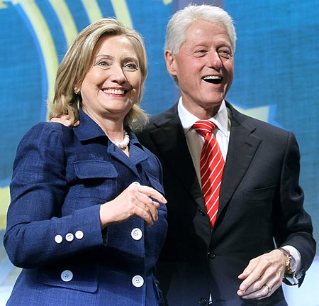 Bill Clinton and Hillary Rodham