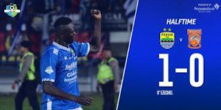 Persib Unggul 1-0 atas Borneo FC di Babak Pertama