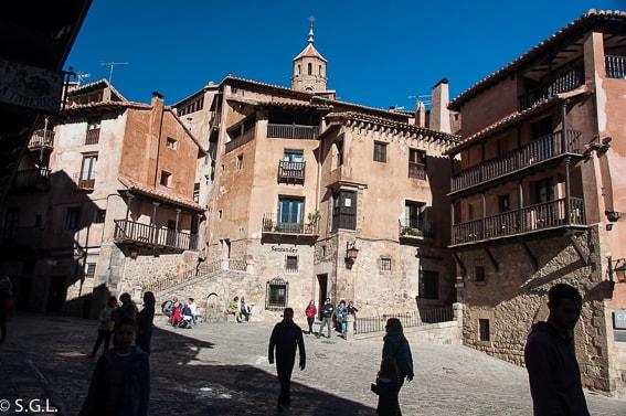 Plaza Mayor de Albarracin. Teruel. Uno de los pueblos mas bonitos de España