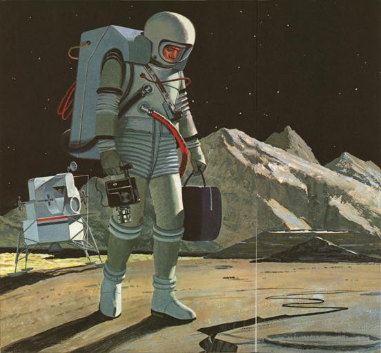 Rare Wonderful 1950s Space Art: Daily Lazy: Vintage Space Art By John Polgreen