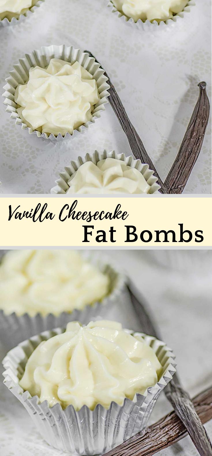 Vanilla Cheesecake Fat Bombs #Diet #Keto
