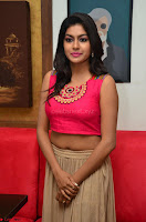 Akshita super cute Pink Choli at south indian thalis and filmy breakfast in Filmy Junction inaguration by Gopichand ~  Exclusive 031.JPG