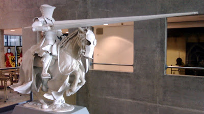 Plaster horse sculpture in Royal Armouries Museum