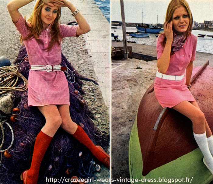 shirt dress polo hechter 1969 60s 1960 twiggy mod