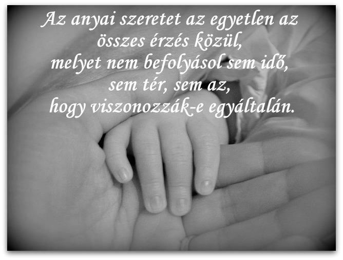 idézetek anyai szeretetről Idézetek, képek, hírek és bulvár: Az anyai szeretet az egyetlen az