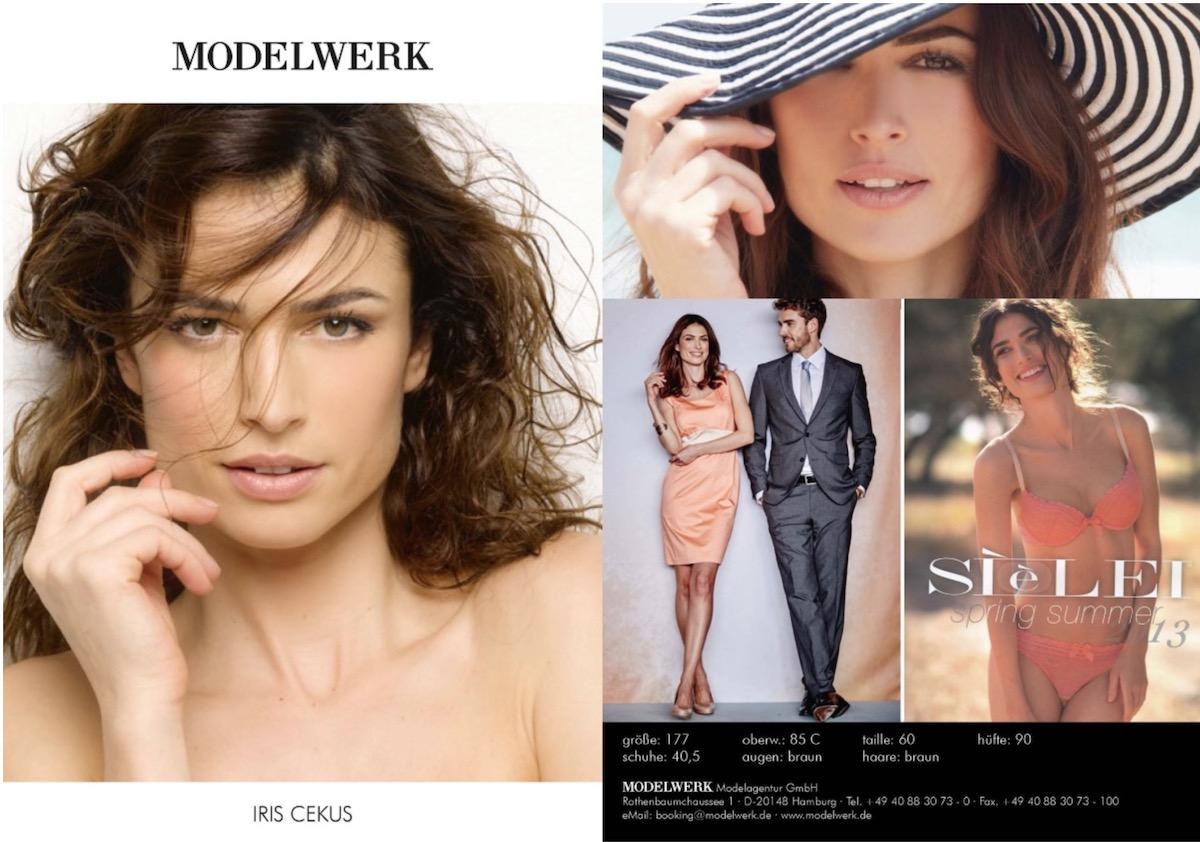 iris cekus, modella pubblicità brancamenta 2018