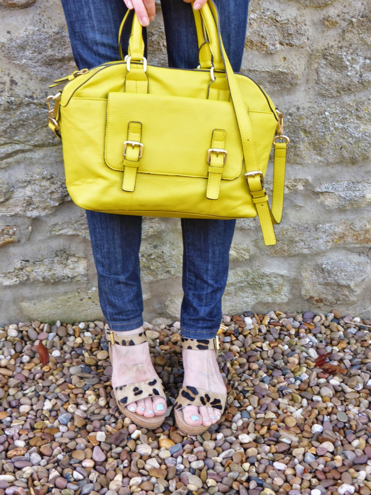 Outfit post a navy breton with the boden yellow bowling for Boden yellow bag