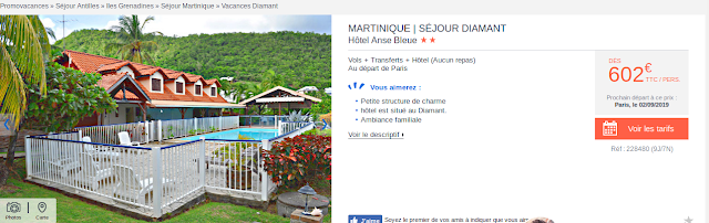 Voyage Martinique + hôtel