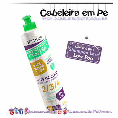 Leite De Coco Umidificador De Cachos - Soft Hair (liberados para Low Poo)