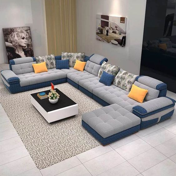 Latest 70 Corner sofa set designs for large & small living room ...