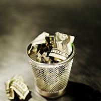 Money in Trash