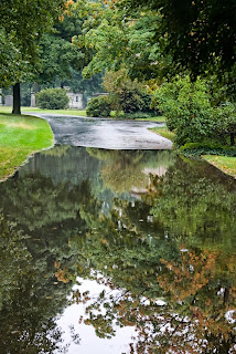 Graceland Cemetery, flooded path 2013