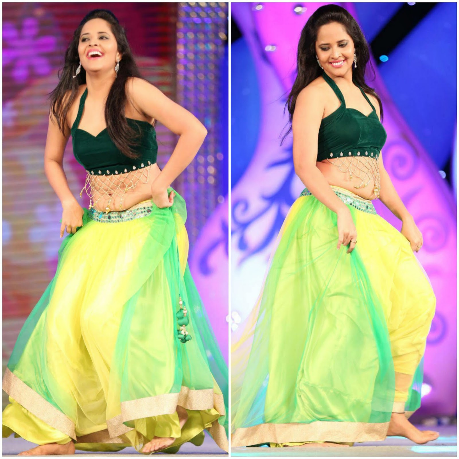 Anchor Anasuya Hot Spicy Dance Performance Photos Gallery at Gama Awards 2014
