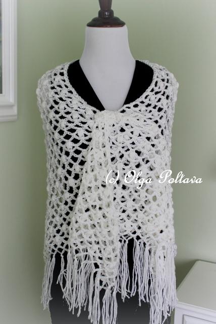 Crochet Lace Pattern For Beginners : Lacy Crochet: Lace Puffs Crochet Prayer Shawl