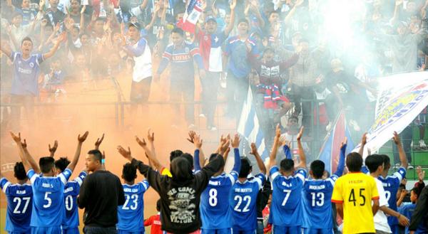 Inilah Selebrasi Arema Indonesia saat Petik Kemenangan Perdana