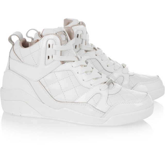 DKNY Cleo quilted leather sneakers - sports luxe fashion