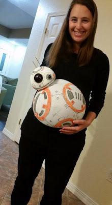 BB-8 Pregnant Belly Halloween Costume