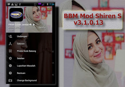 BBM Mod Shiren Sungkar Apk [Change Theme/Background]