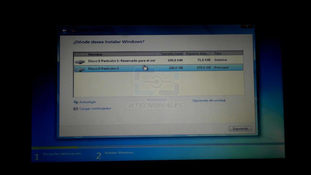instalacio nde windows canaima