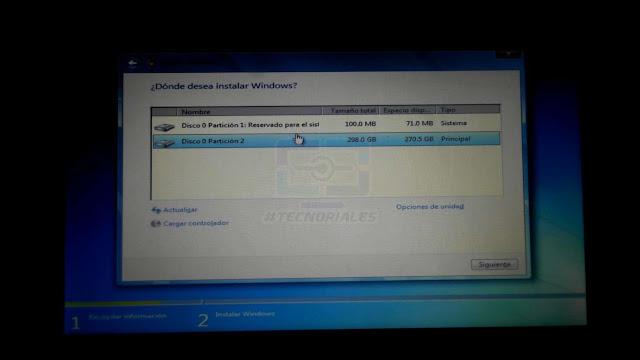 instalacio nde windows canaima